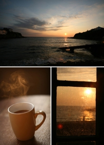 Holidays Cornwall, cuppa tea, sunrise,