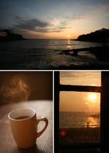 Holidays Cornwall, cuppa tea, sunrise,